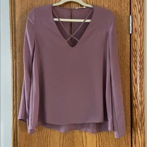 Lilac cross front blouse